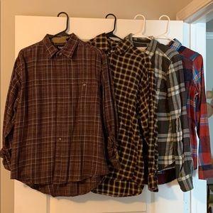 Tops - Lot of 4 women's flannels
